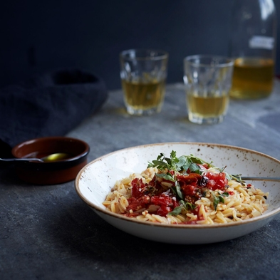 Orzo with Roasted Tomatoes