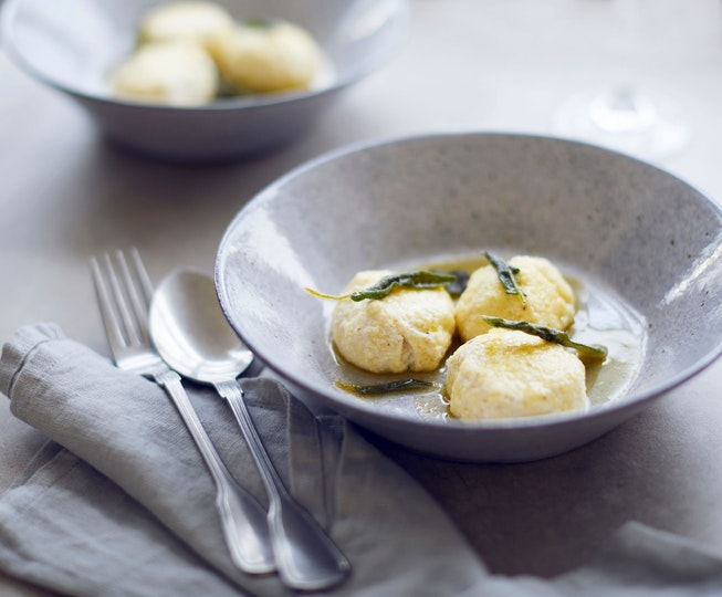 Ricotta Dumplings with Sage Butter