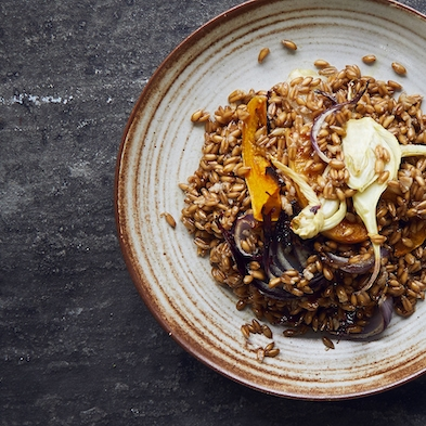 Warm Spelt Salad with Roasted Fennel and Butternut Squash
