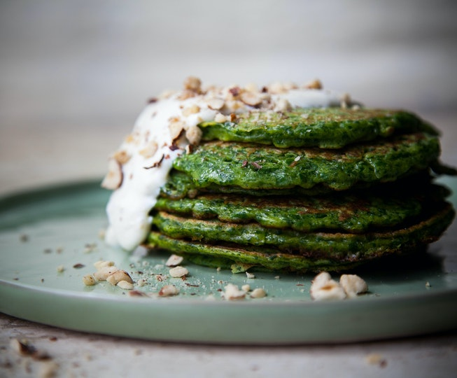 Curried Spinach Pancakes