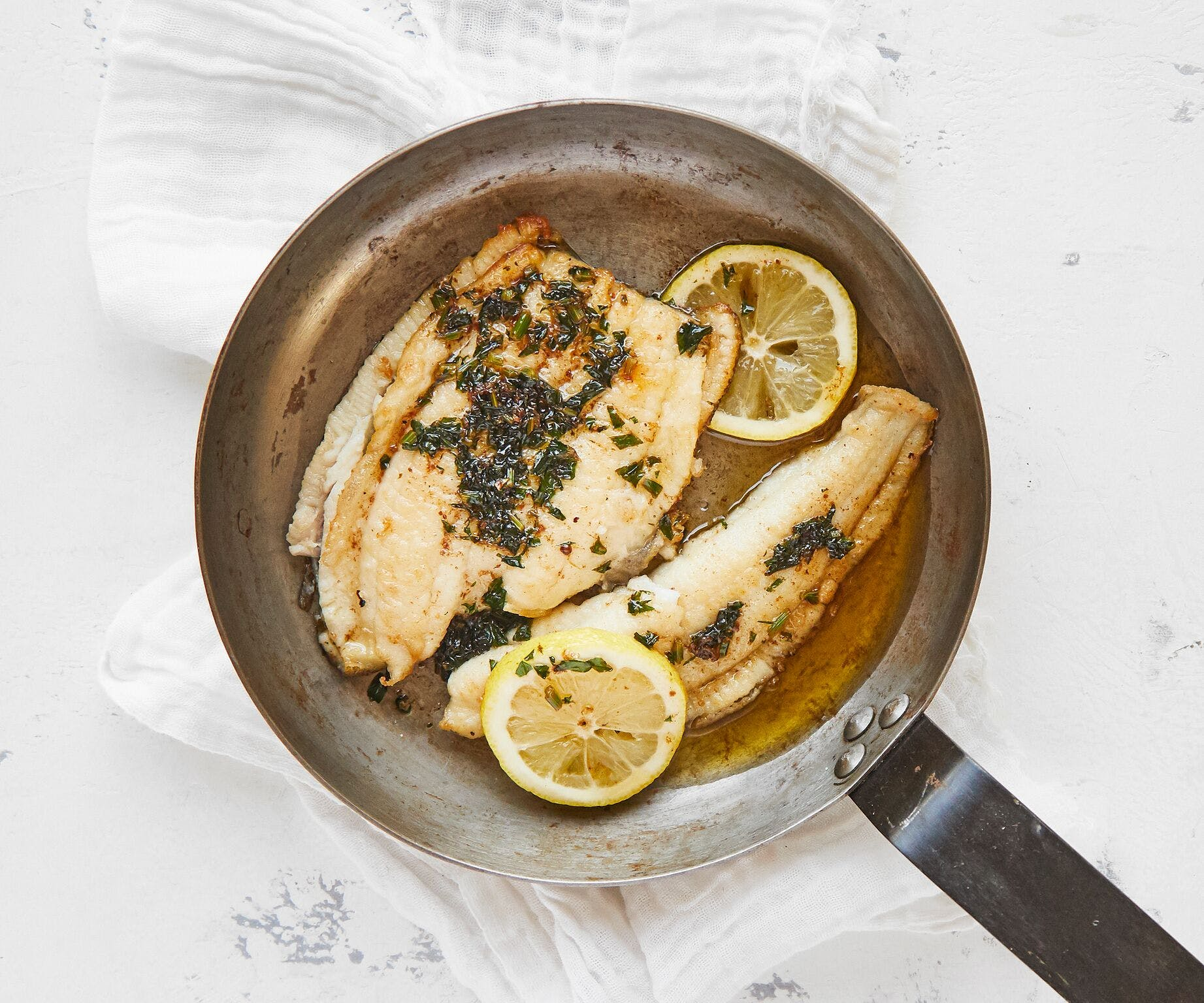 Lemon Sole with Brown Butter and Parsley