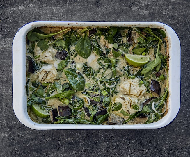 Thai Green Fish Curry Bake