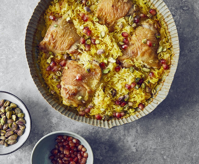 Baked Chicken and Saffron Rice