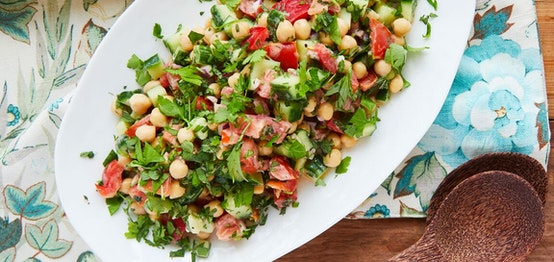 Herby Chickpea Salad with Tahini Dressing