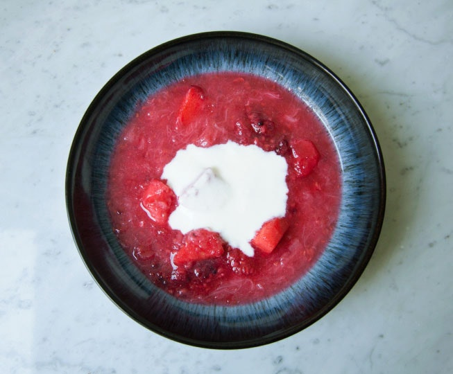 Rhubarb & black pepper compote Recipe - gluten free ...