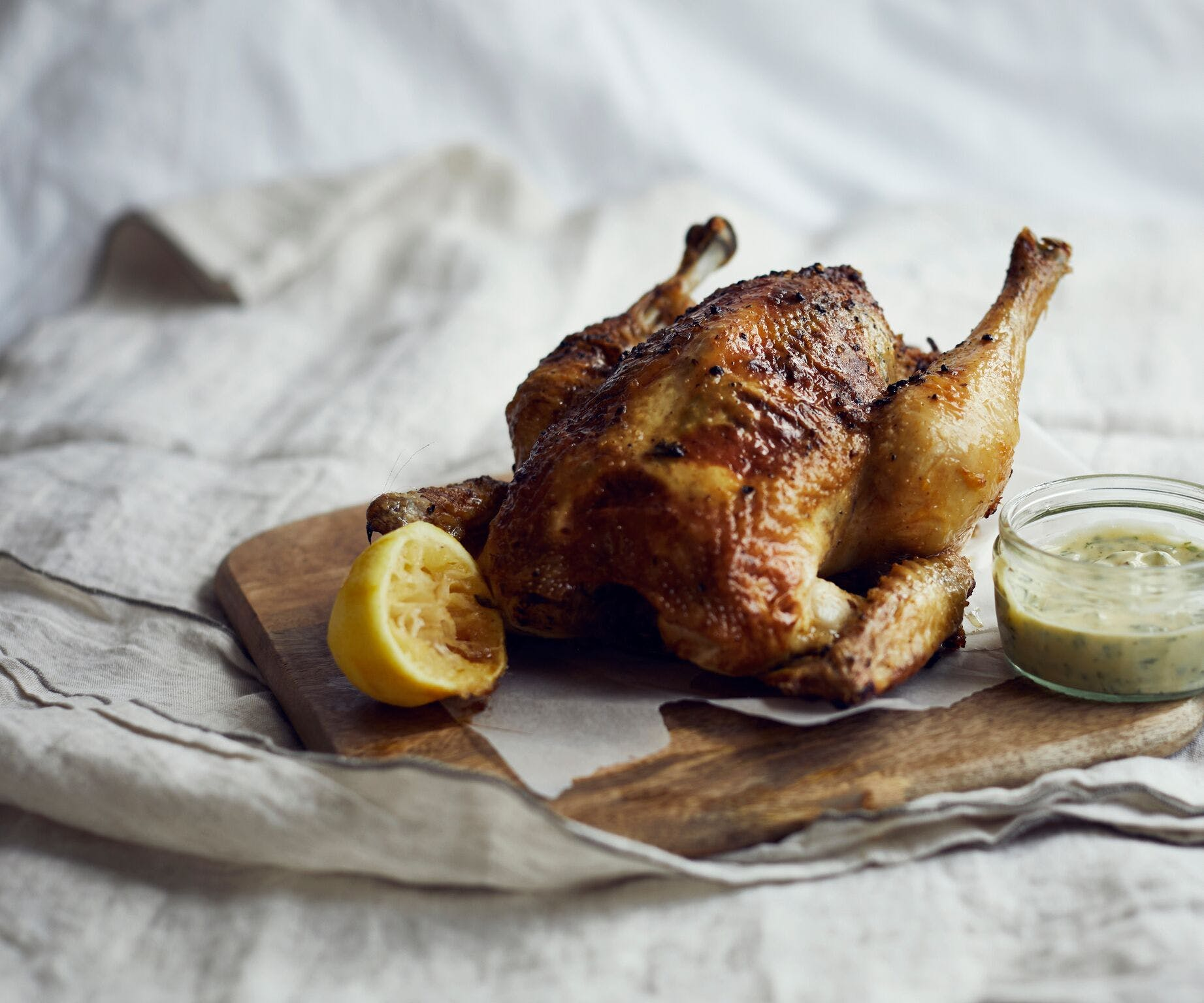 Roast Chicken with Herby Mayo