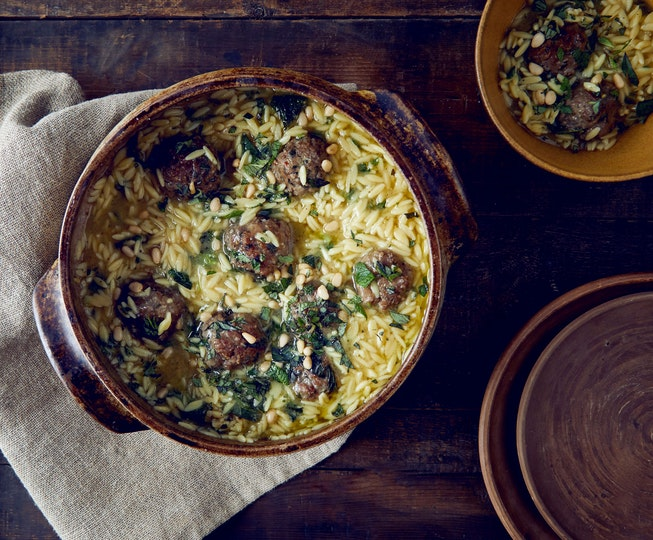 Spiced Lamb Meatballs with Orzo