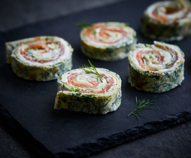 Smoked Trout and Ricotta Herby Pinwheels