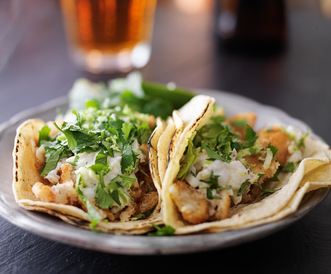 Fish Tacos with Chive Mayo