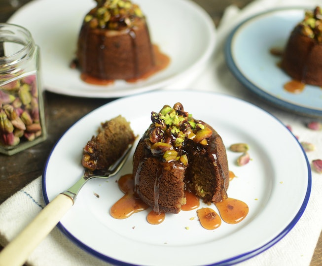 Sticky Date Pistachio Honey Butter Pudding