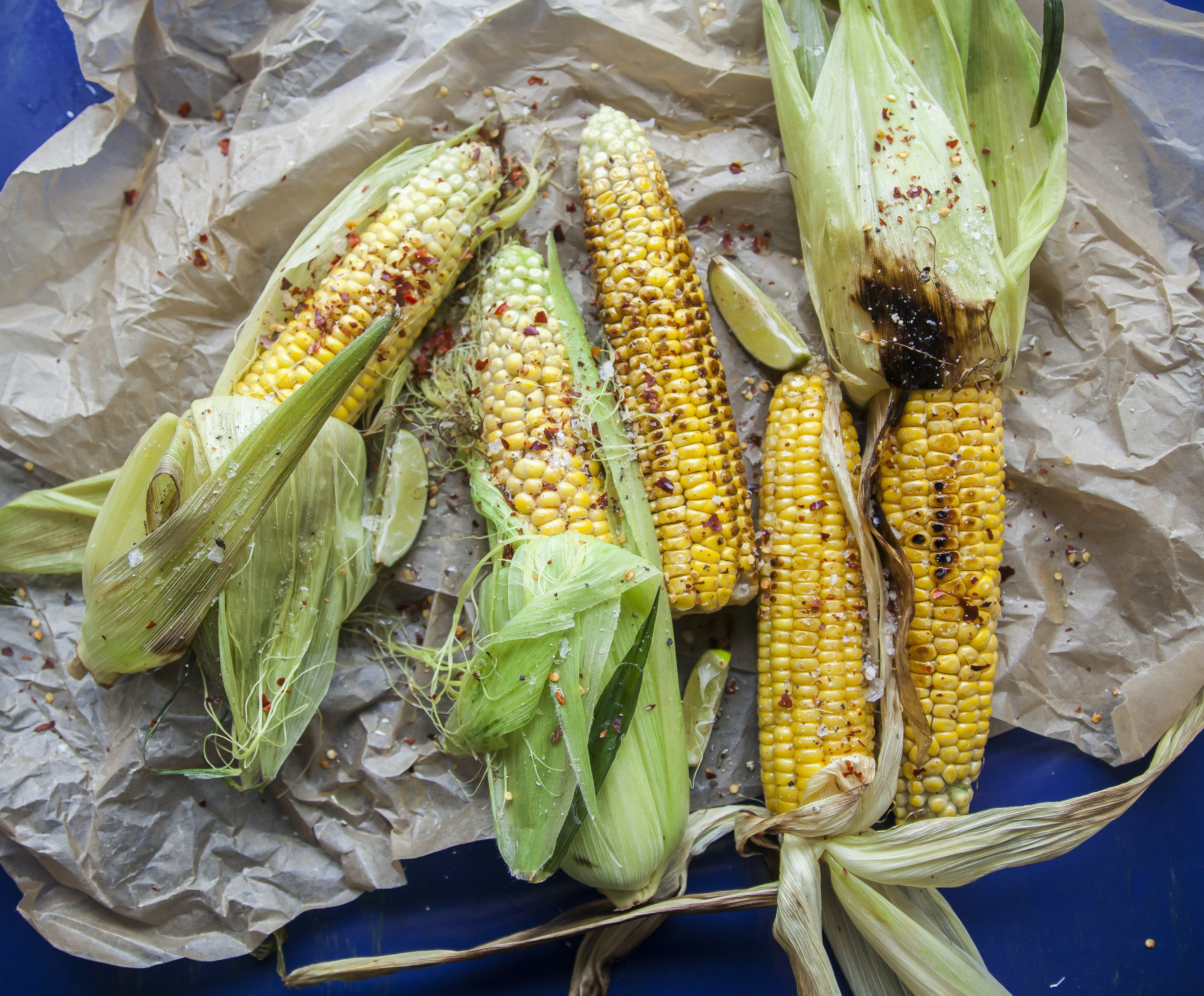 Chilli and Lime Buttered Corn