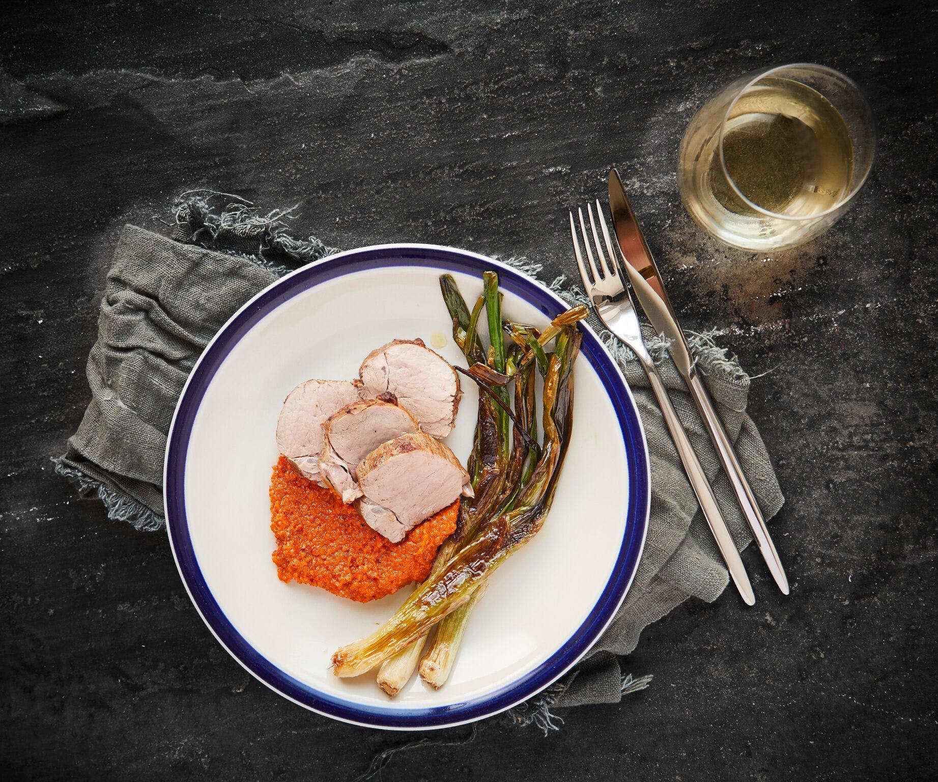 Pork Tenderloin with Romesco Sauce