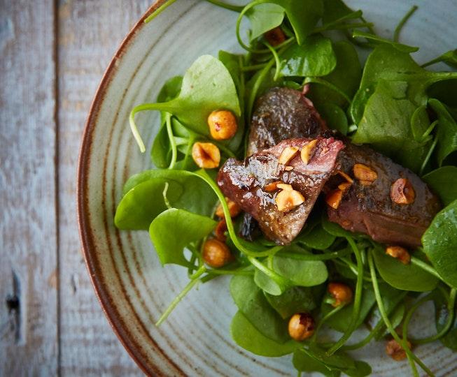 Warm Pigeon Salad with Hazelnut Brown Butter
