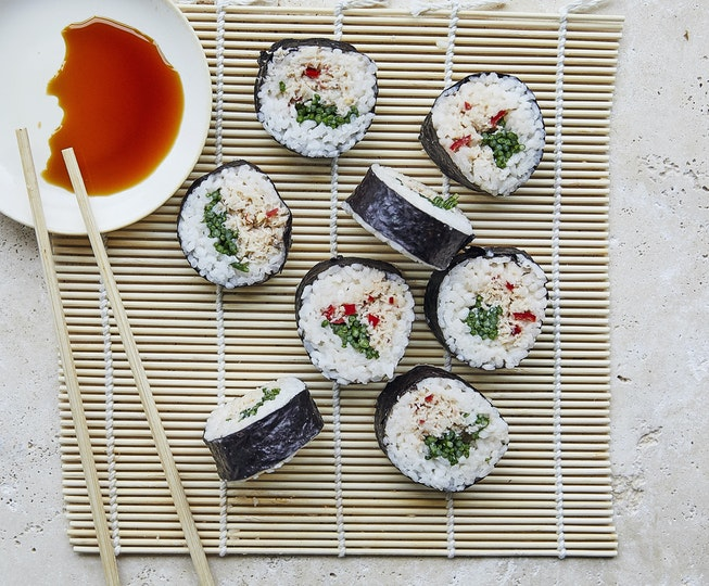Crab and Samphire Sushi