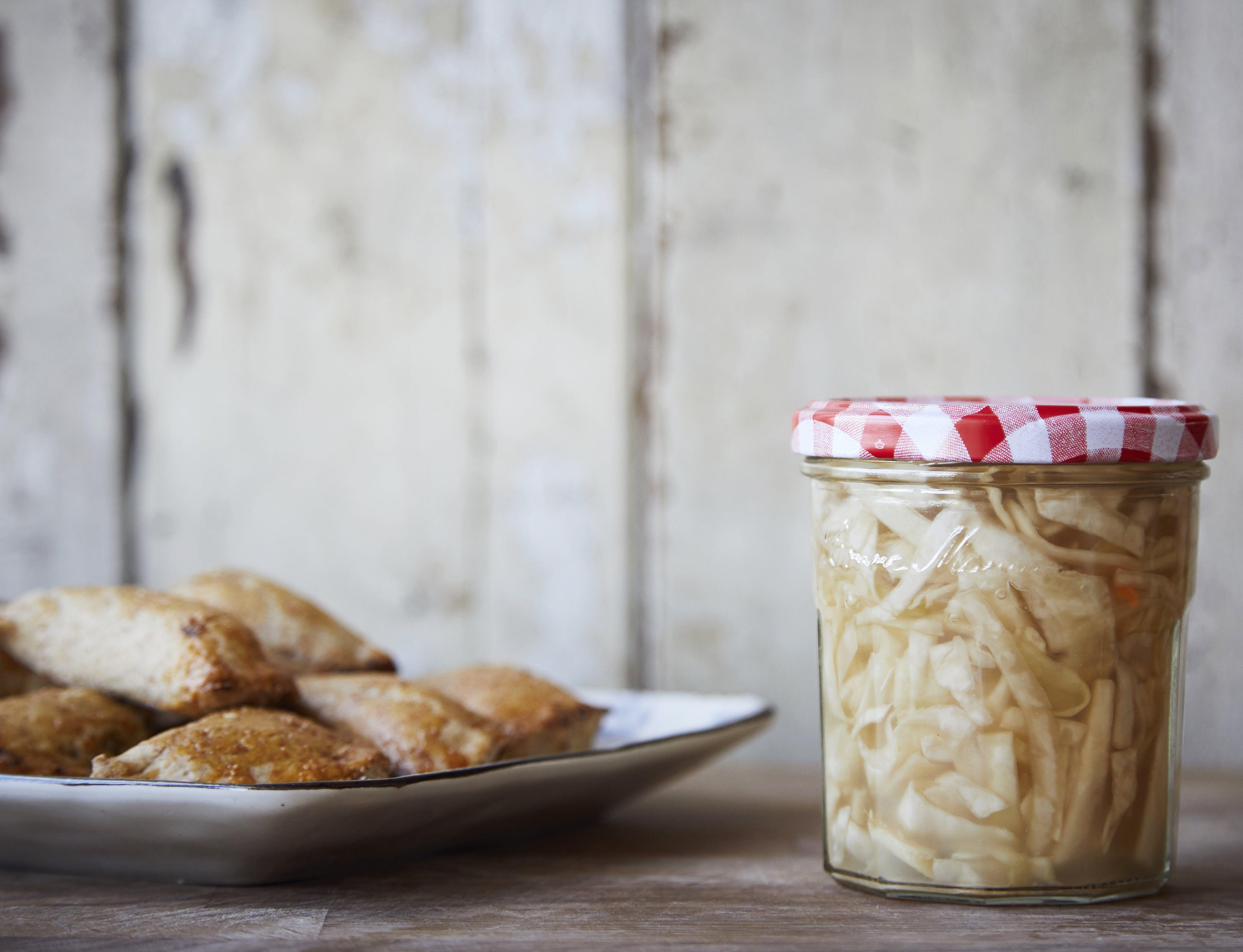 Baked Sauerkraut Pierogi
