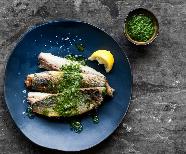 Pan Fried Mackerel with Sorrel Sauce