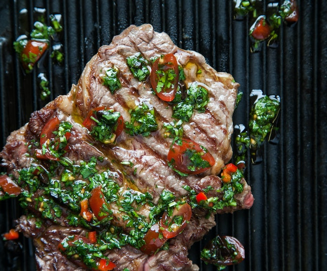 Rib-Eye Steak with Chimichurri Sauce
