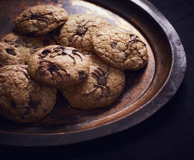 Spider-infested Chocolate Chip Cookies