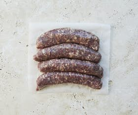 White Park Beef Short Rib and Bone Marrow Sausages