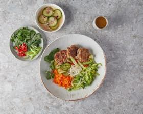 Vietnamese Noodle Salad with Pork Patties
