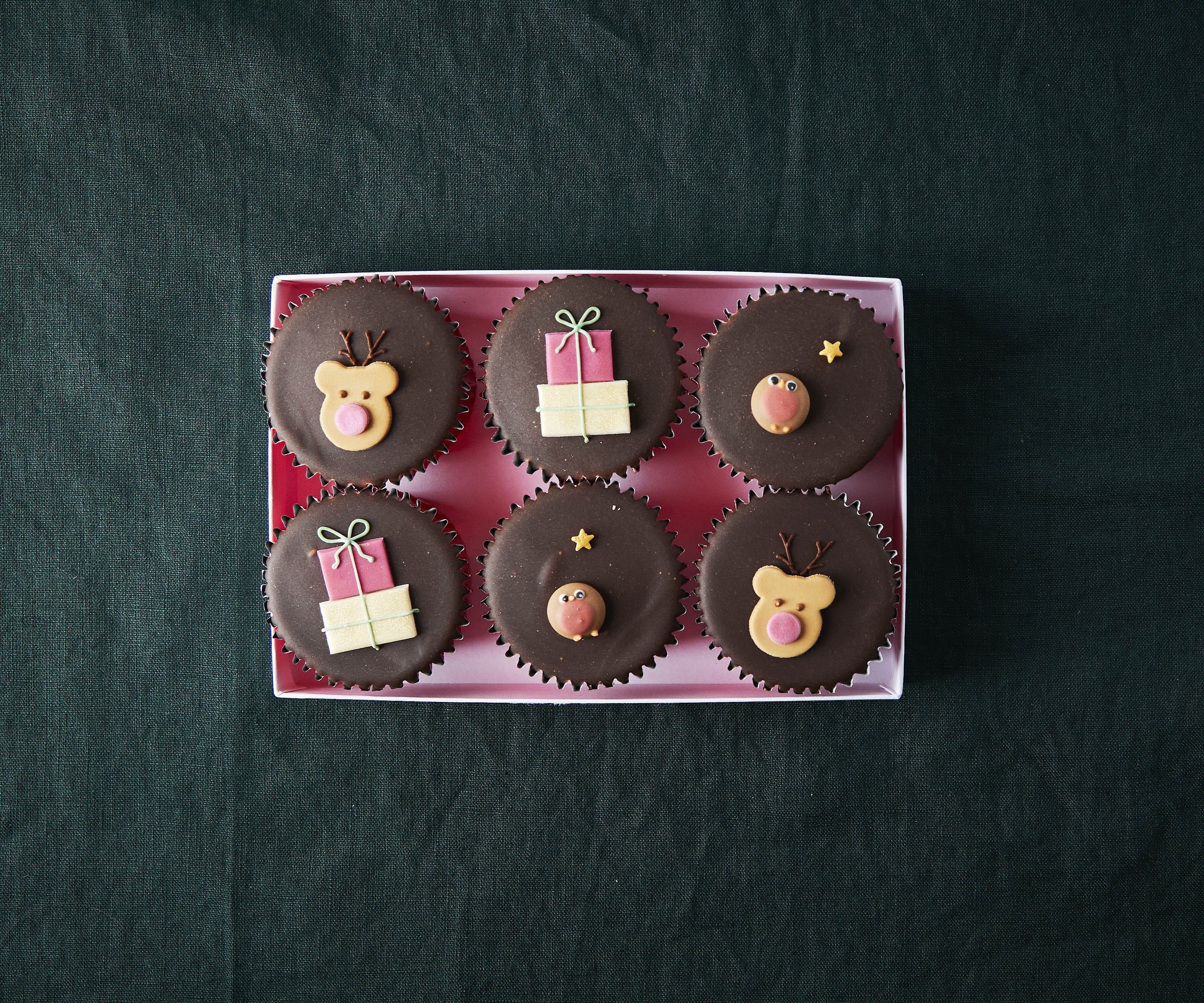 Rudolph Chocolate Fairy Cakes