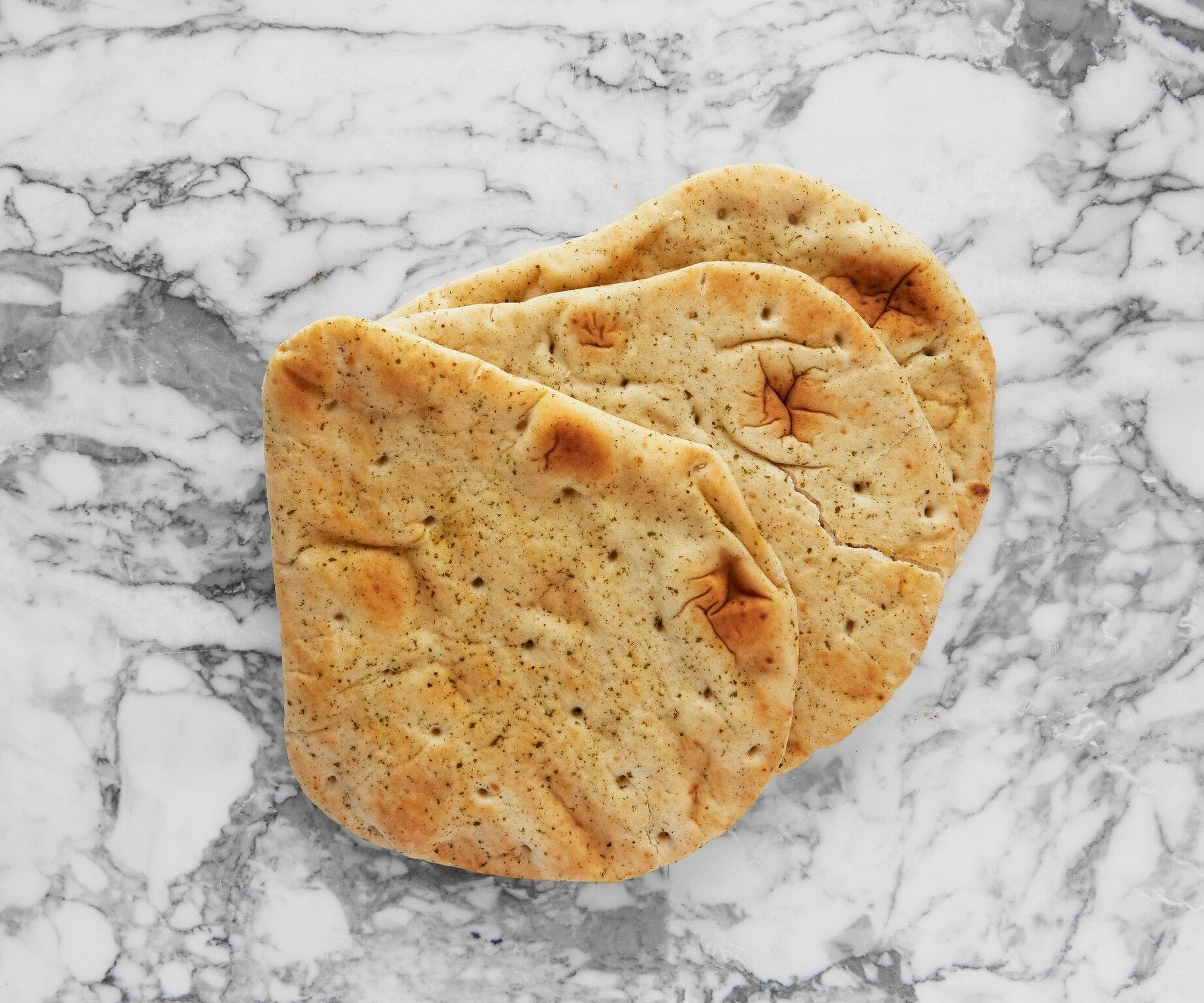 Punjaban Garlic and Coriander Naan Bread