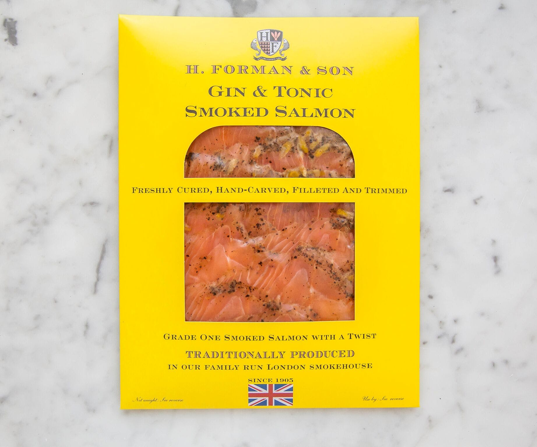 Gin & Tonic Cured Salmon (Sliced)