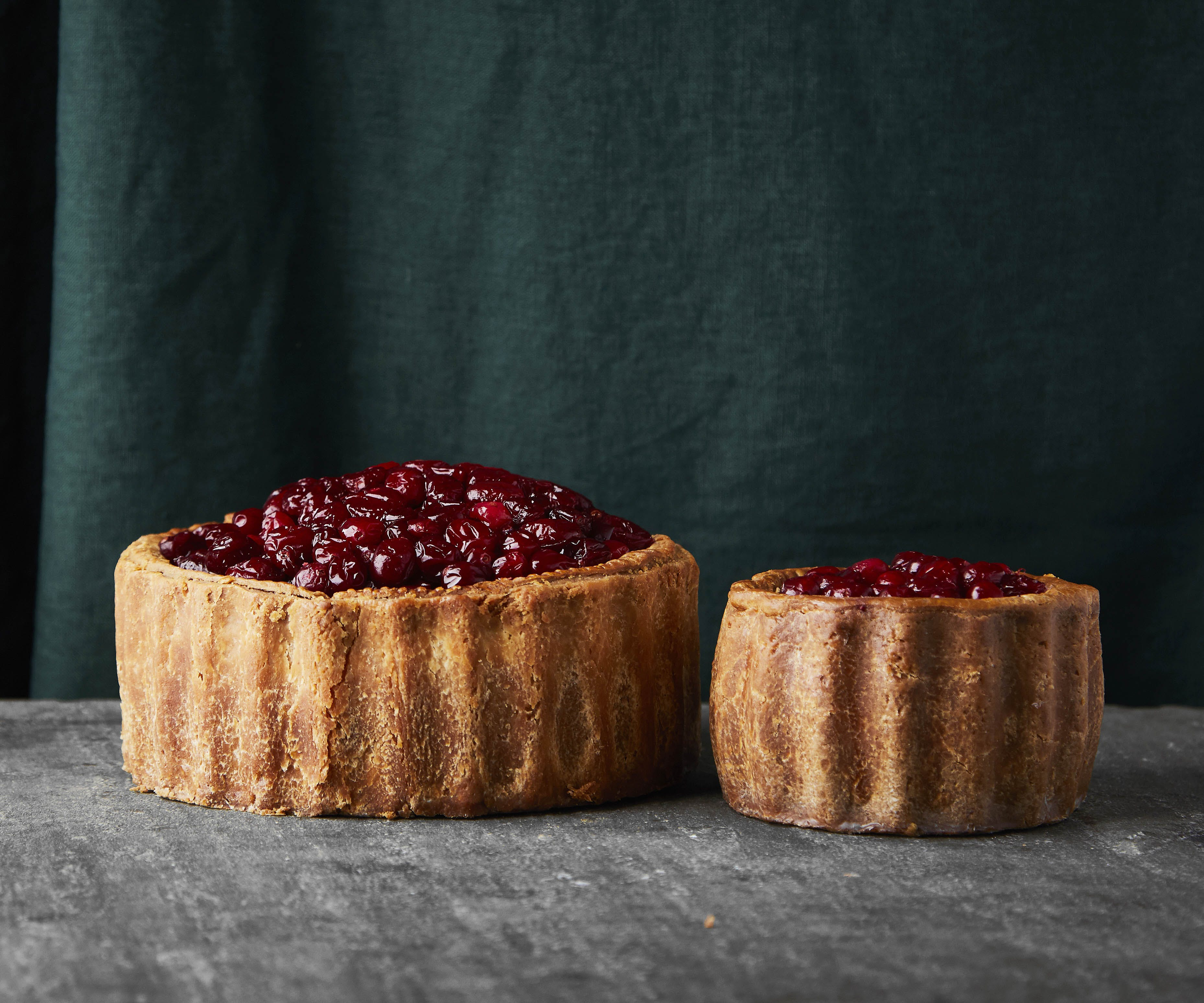 Classic Pork Pie with Festive Topping