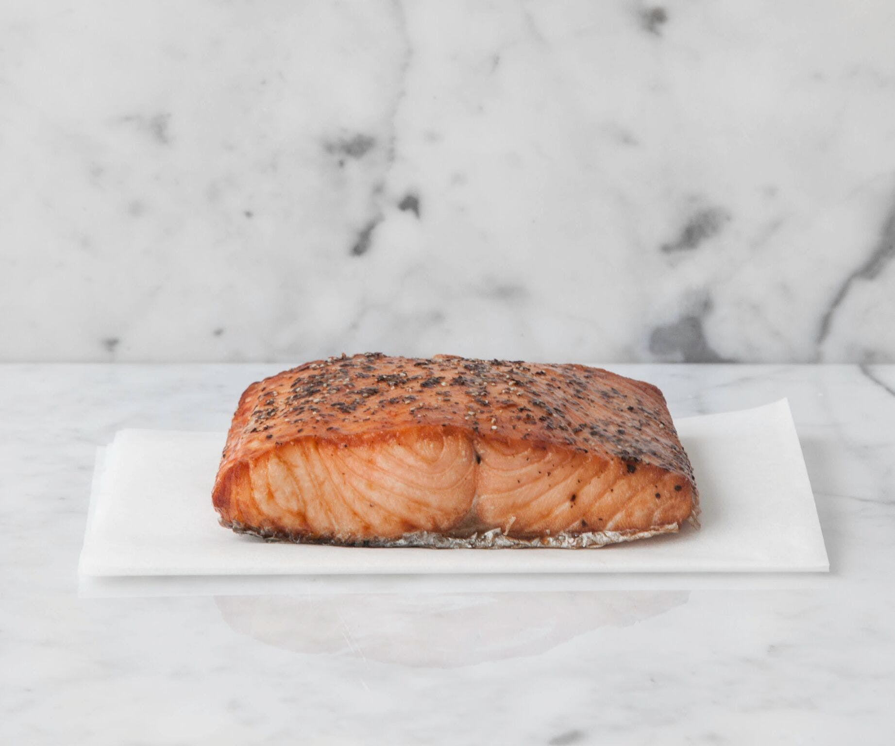 Pepper Crusted Double Hot Smoked Salmon