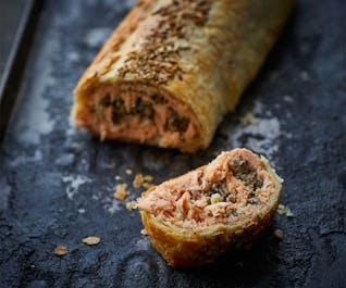 Salmon Coulibiac - (Salmon Fillet En Croute)