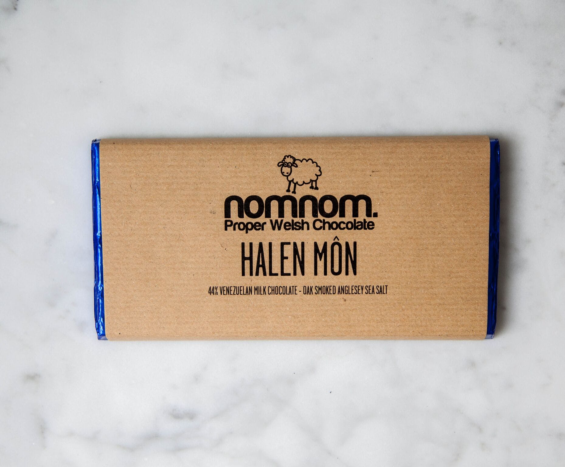 Halen Mon Smoked Sea Salt Milk Chocolate Bar