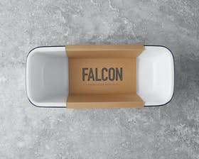 Loaf Tin - Orginal White with Falcon Blue Rim
