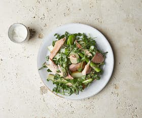 Jersey Royals, Asparagus and Smoked Trout Salad