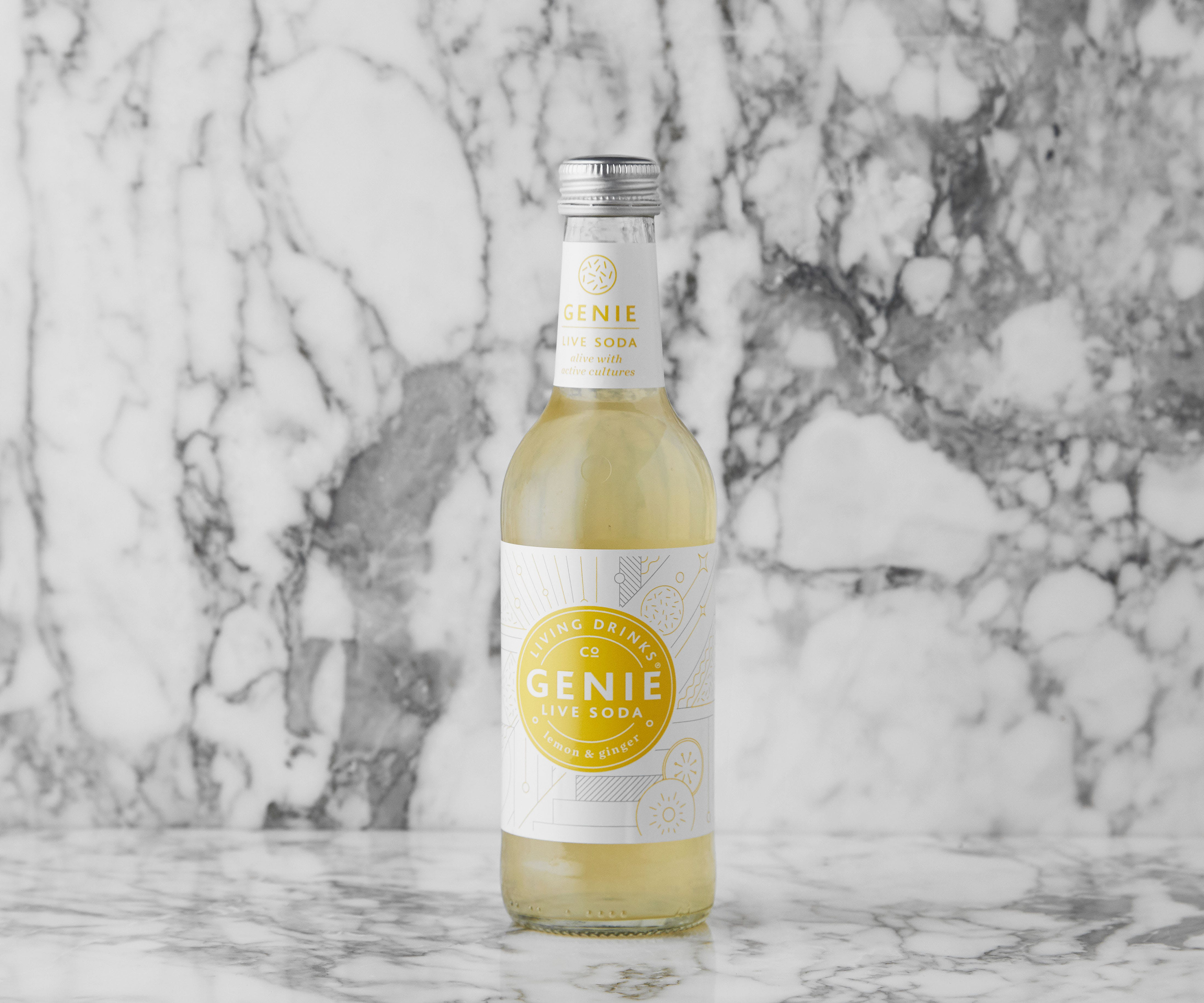 Genie Live Soda, Lemon & Ginger