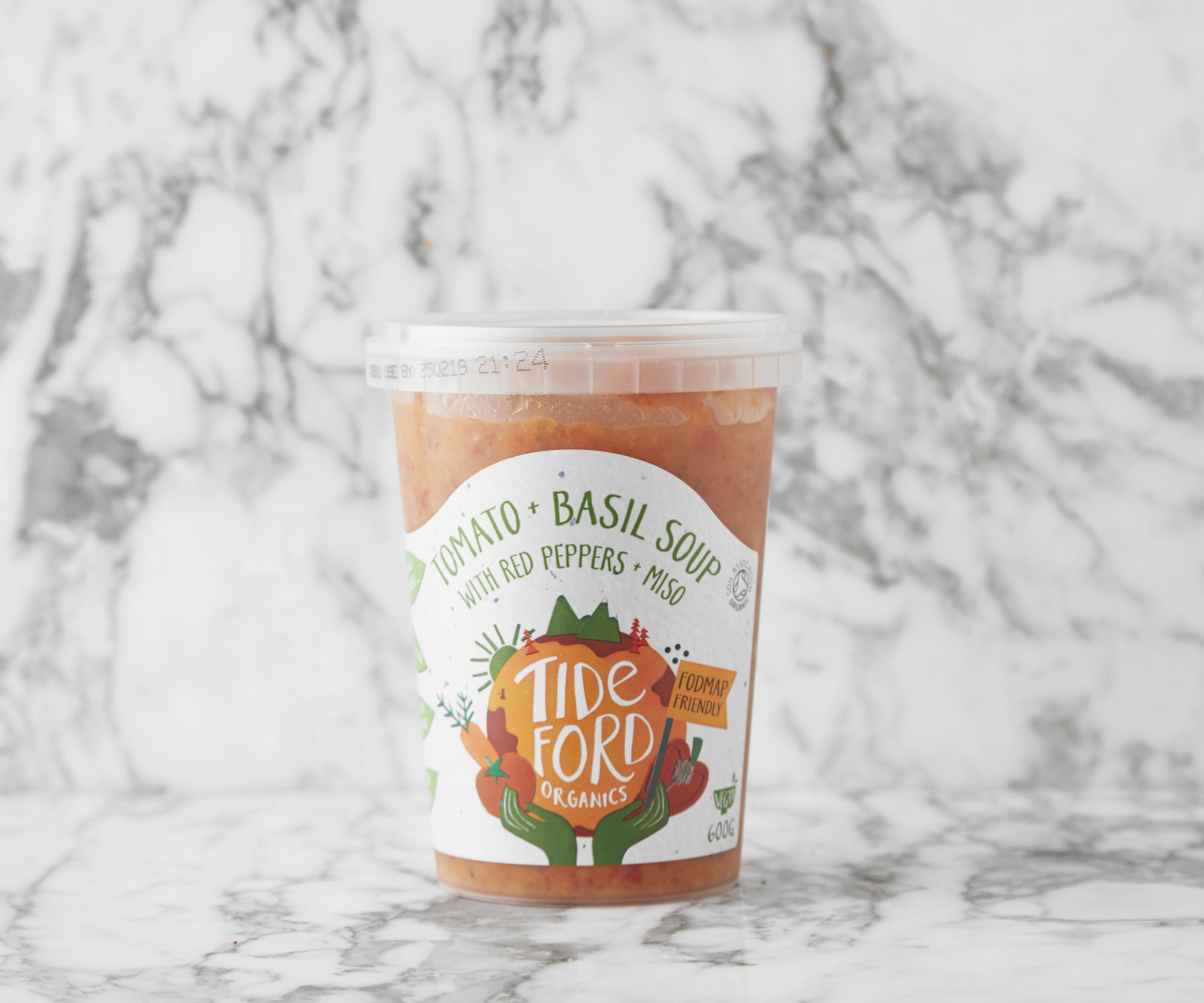 Tomato + Basil Soup with Red Peppers + Miso