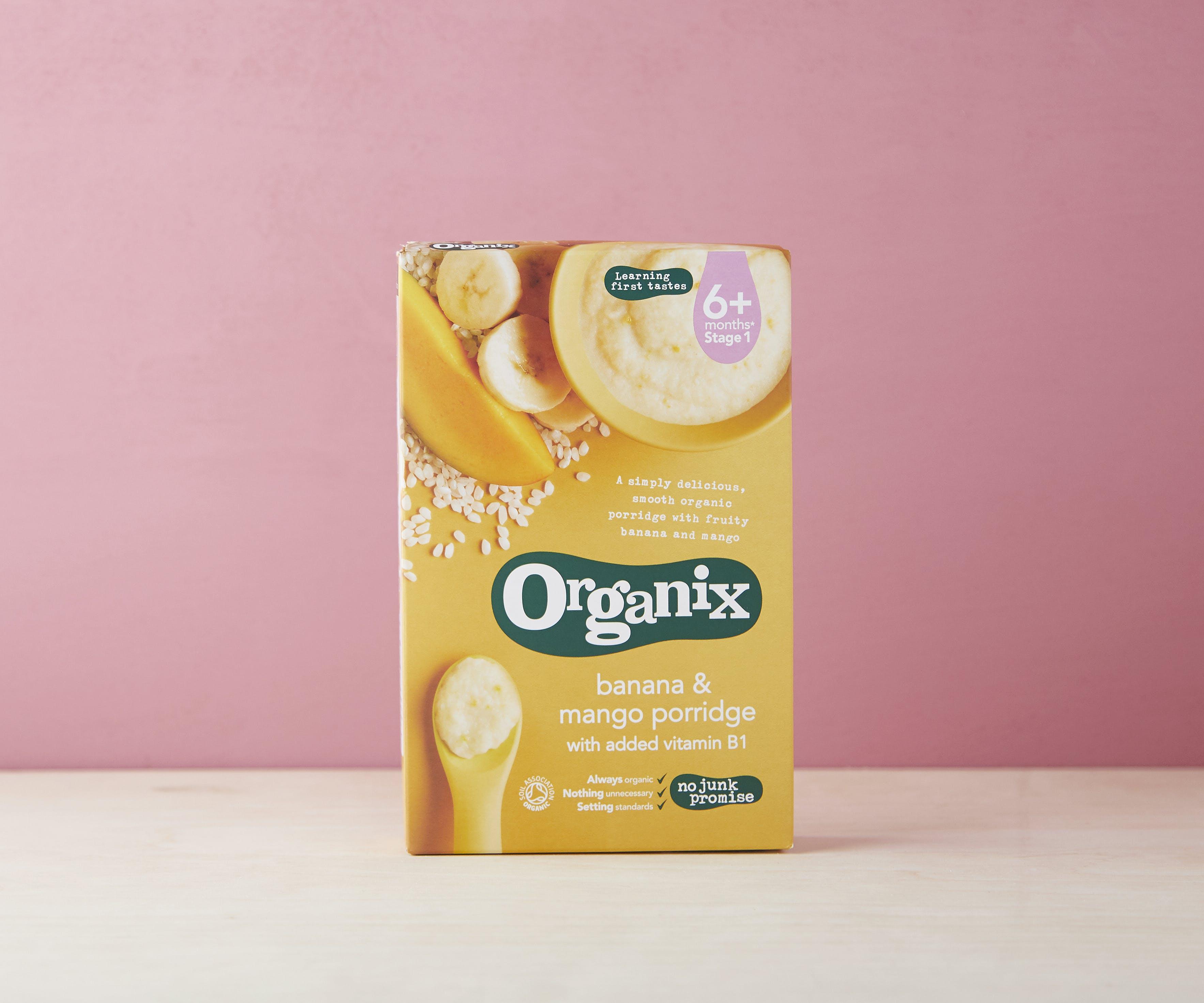 Stage 1 - Banana & Mango Porridge (4+M)