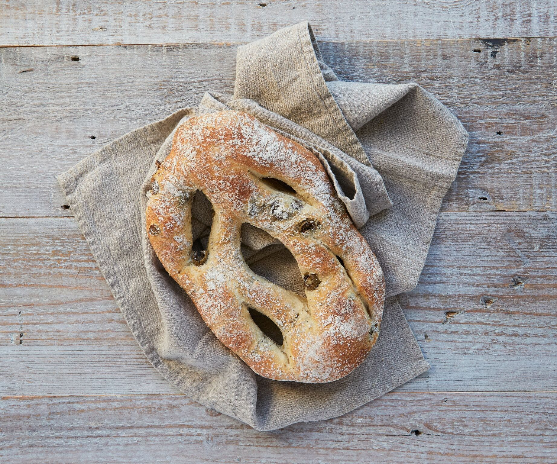 Fougasse Olive Bread