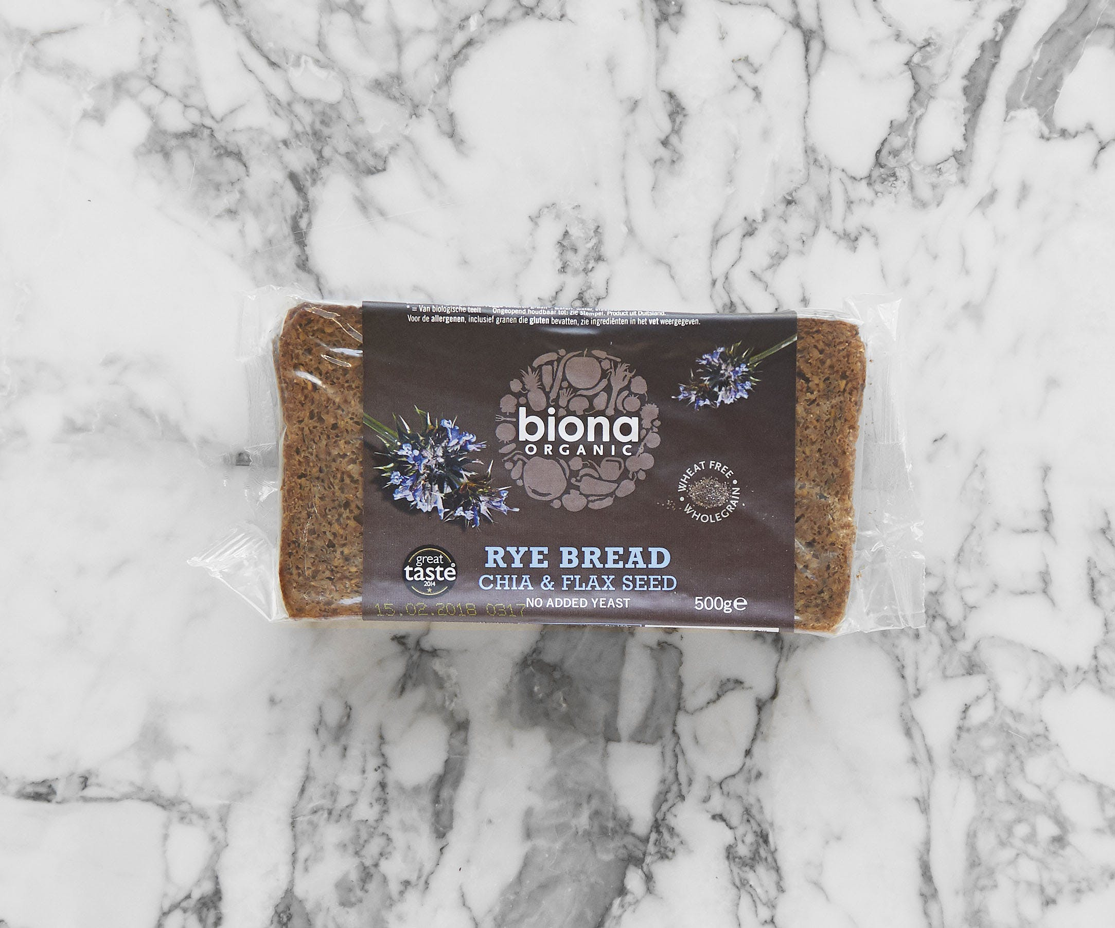 Organic Chia & Flax Seed Rye Bread