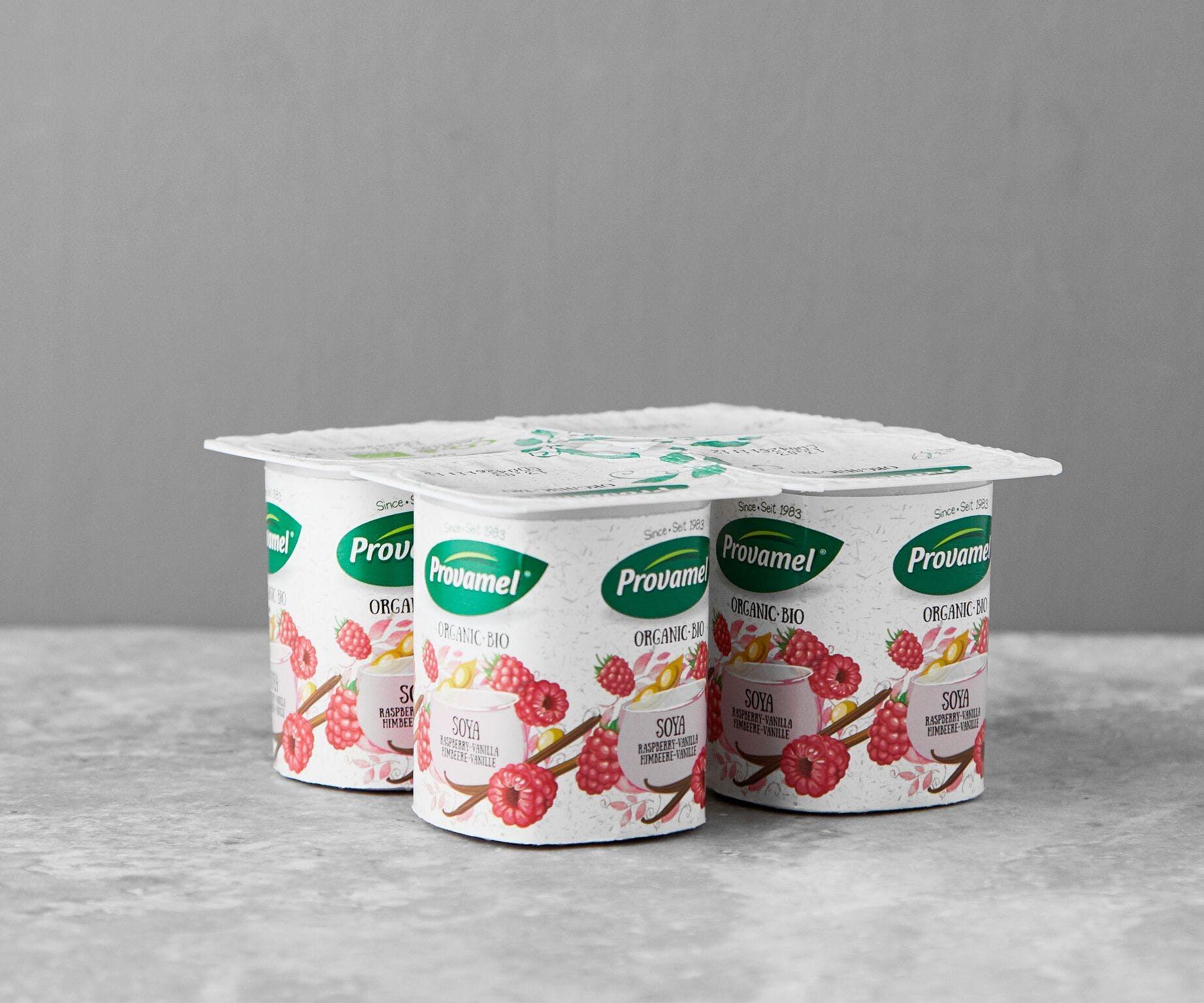 Organic Raspberry and Vanilla Yofu - Pack of 4