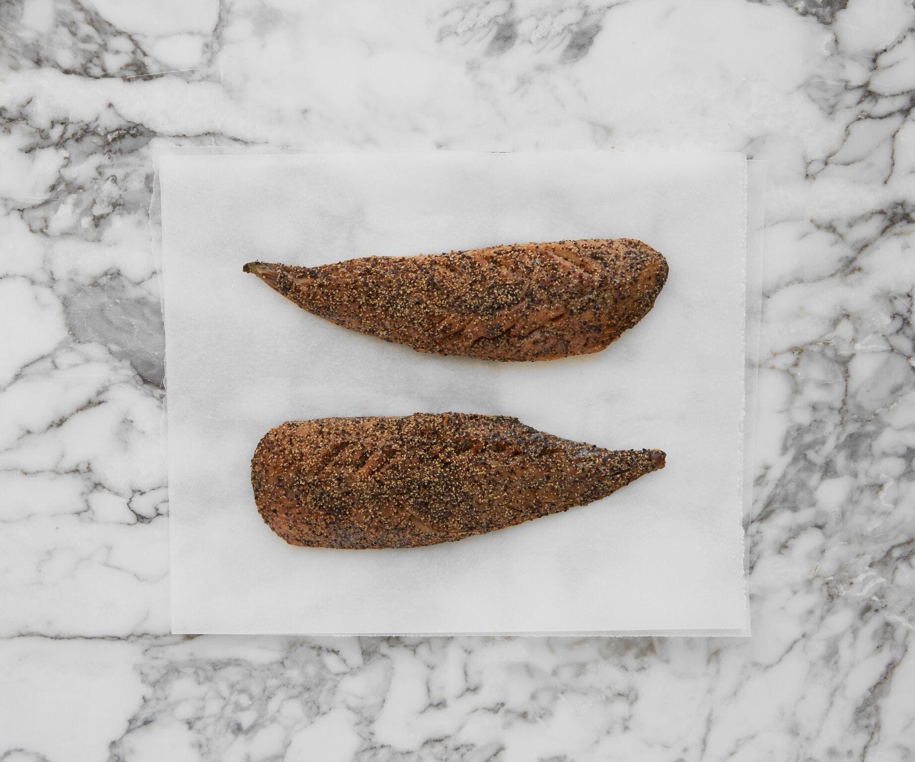 Hot Smoked Peppered Mackerel
