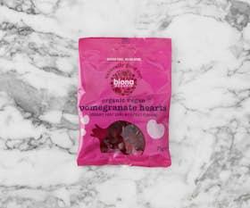 Organic Pomegranate Hearts