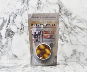 Classic Chilli & Garlic Pitted Olives